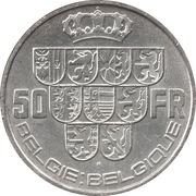50 francs - Léopold III (Belgie-Belgique) – revers