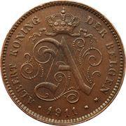 2 centimes - Albert Ier (en néerlandais) – avers