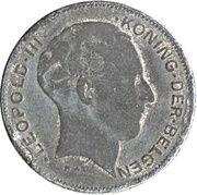 5 francs - Léopold III - type Rau (en néerlandais) -  avers