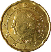 20 cents d'euro Albert II (2e carte, 2e type, 1ère effigie) -  avers