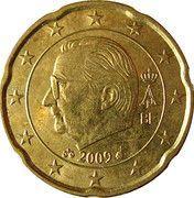 20 cents d'euro Albert II (2e carte, 2e type, 1ère effigie) -  avers