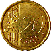 20 cents d'euro Albert II (2e carte, 2e type, 1ère effigie) -  revers