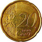 20 cents d'euro Albert II (2e carte, 2e type, 1ère effigie) -  revers