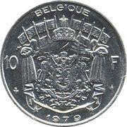 10 francs - Baudouin Ier (en français) -  revers