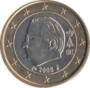 1 euro Albert II (2e carte, 2e type, 2e effigie) -  avers