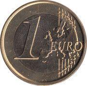 1 euro Albert II (2e carte, 2e type, 2e effigie) -  revers