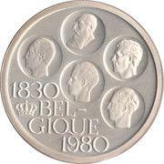 500 francs - 150 ans de l'indépendance de la Belgique - Argent 510‰ (en français) – avers