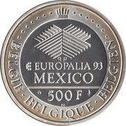 500 francs - Albert II  - Europalia 93 – revers