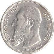 50 centimes - Léopold II - type Vinçotte (en français) – avers