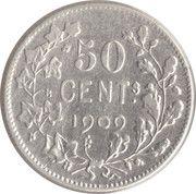 50 centimes - Léopold II - type Vinçotte (en français) – revers