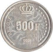500 francs - 60ème anniversaire du Roi Baudouin (en néerlandais) – revers