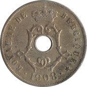 25 centimes - Léopold II - type Michaux (en français) -  avers