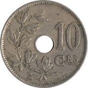 10 centimes - Albert Ier - type Michaux (en français) -  revers