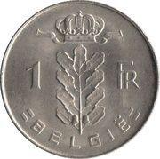 1 franc - type Cérès (en néerlandais) -  revers