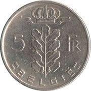 5 francs - type Cérès (en néerlandais) -  revers