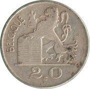 20 francs - Prince Charles - type Mercure (en français) -  revers