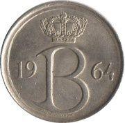 25 centimes - Baudouin Ier (en français) -  avers