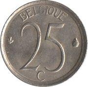 25 centimes - Baudouin Ier (en français) -  revers