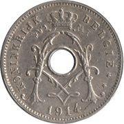 5 centimes - Albert Ier - type Michaux (en néerlandais, sans étoile) -  avers