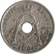 25 centimes - Albert Ier - type Michaux (en néerlandais) -  avers