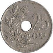 25 centimes - Albert Ier - type Michaux (en néerlandais) -  revers