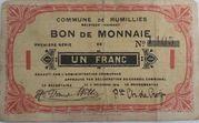 Rumillies 1 franc 1914 – avers