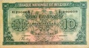 10 Francs / 2 Belgas Type 1943 – revers