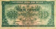 10 Francs / 2 Belgas Type 1943 – avers