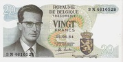 20 francs - Baudouin I -  avers
