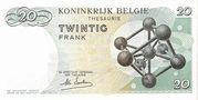 20 francs - Baudouin I -  revers