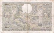 100 francs - 20 Belgas Type 1933 Recto français – avers