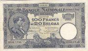 100 Francs / Belgas – avers