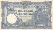 100 Francs / Belgas – revers