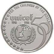 5 écus Albert II - Unicef – revers