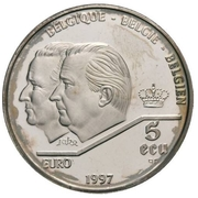 5 écus Albert II - Traité de Rome – avers