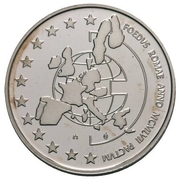 5 écus Albert II - Traité de Rome – revers