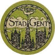 10 centimes en carton (Ville de Gand) – avers