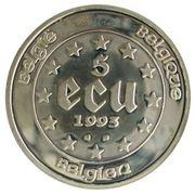 5 écus Présidence Belge à la Communauté Européenne – revers