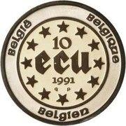 10 écus Baudouin Ier - Règne du roi Baudouin Ier – revers