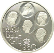 500 francs - 150 ans de l'indépendance de la Belgique - Argent 510‰ (en néerlandais) – avers
