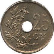 25 centimes - Albert Ier - type Michaux (en français) -  revers