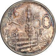 50 francs - Baudouin - Expo 1958 (en néerlandais) – revers