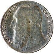 50 centimes - Léopold II - type lion assis (légende en néerlandais) – avers