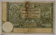 50 Francs ou 10 Belgas – revers