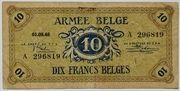 10 francs Armée belge – avers