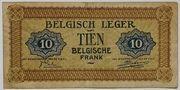 10 francs Armée belge – revers