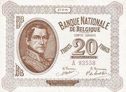 20 francs Comptes courants – avers