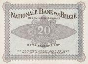 20 francs Comptes courants – revers