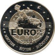 500 francs - Albert II (Charles Quint) – revers