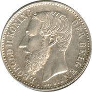1 franc - Léopold II - type Wiener (en néerlandais) -  avers
